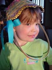 In my Easter Basket Bonnet
