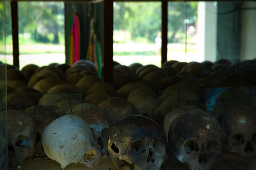 The main exhibit at the Killing Fields.