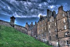 Castle Wynd North from Johnston Terrace (elementalPaul) Tags: blue sky green clouds catchycolors scotland edinburgh pentax tripod hdr photomatixpro 5xp  k10d pentaxk10d castlewyndnorth