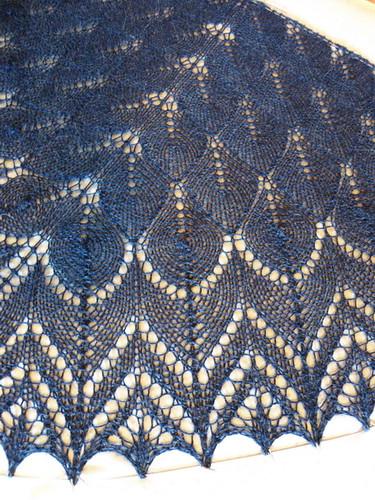 Springtime bandit scarf/shawl closeup