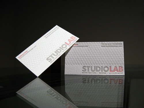 Studio Lab Letterpress Business Cards