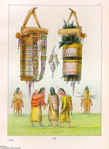 021-Modos y utensilios para transportar niños-George Catlin 1841