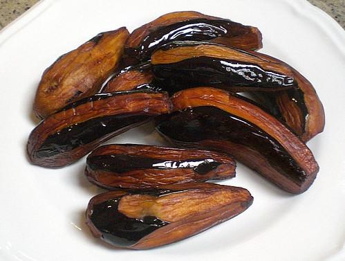 Eggplant w/Tahini sauce & pomegranates