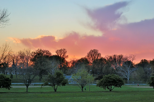 Francis Park at Sunset, in Saint Louis, Missouri, USA