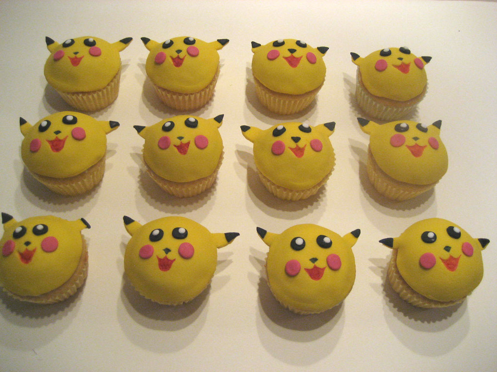 Pikachu Cupcake