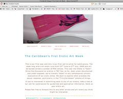 Header on Erotic Art Week's Website