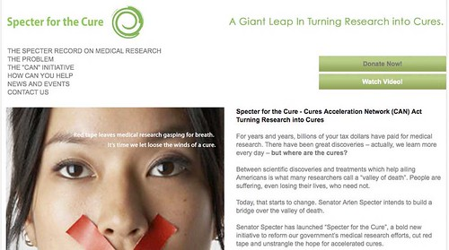 Specter for the Cure - Cures Acceleration Network (CAN) Act Turning Research into Cures