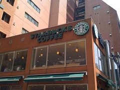 スタバ日本1号店である銀座松屋通り店