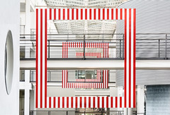 Three Frames with Red and White Stripes (yushimoto_02 [christian]) Tags: architecture canon munich mnchen geotagged arquitectura europe university symmetry architektur munchen universitt tu hdr garching muenchen architectura maschinenbau technischeuniversitt unusualviewsperspectives highestpositioninexplore90
