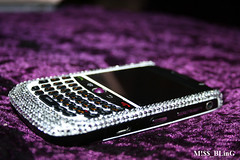 P!mpeD (M!$$ BLinG) Tags: white black silver crystals blackberry purple cover blinged mbling