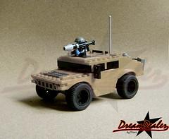 Desert Humvee (ZetoVince) Tags: lego military hummer humvee blackrims legocar legomilitary greeklego legohummer legohumvee pullbackmotor zetovince dreamdealer