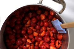 strawberries, macerating