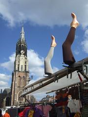 (rutger spoelstra) Tags: netherlands legs delft markt 2008 rutger newchurch threetowers