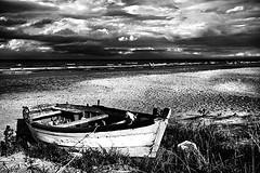 (Effe.Effe) Tags: sea sky bw beach clouds marina boat nuvole mare bn spiaggia senigallia vecchiabarca
