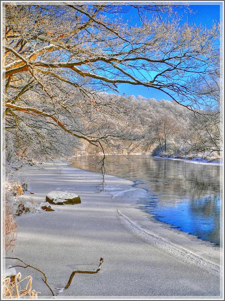Die Eder im Laufe der Jahreszeiten. Winter.