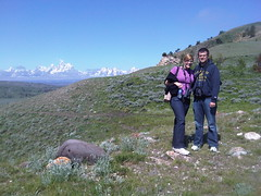 Grand Tetons In the Background