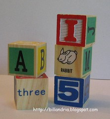 1-inch square wooden blocks