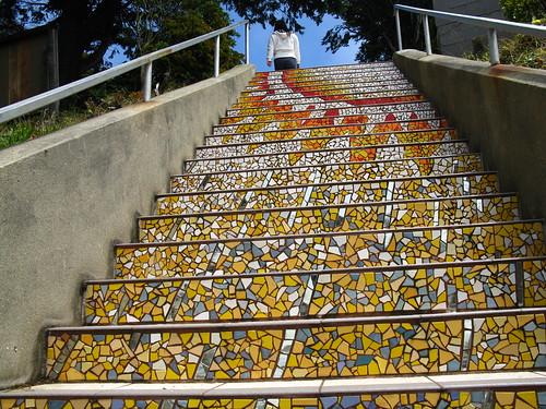 Moraga Tiled Stairs