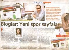 "BlogİdmanYurdu - Milliyet Pazar 02.08.2009 ""Bloglar: Yeni spor sayfalari"""