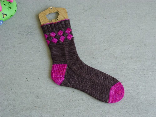 Entrelac Sock