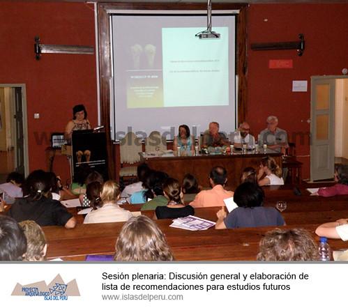 Sesión plenaria: Discusión general y elaboración de lista de recomendaciones para estudios futuros