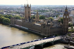 Parliament from London Eye (Vishal   Photography) Tags: bridge london clock water westminster weather wheel thames canon photo britain londoneye parliament bigben detailing photooftheday londoner londonist 1855mmlens 40d canon450d