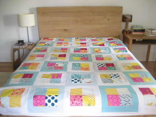 deep sea quilt on the bed