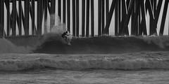 hb surfing (jst images) Tags: california ca blackandwhite bw beach water silhouette pier waves surfer surfing orangecounty oc huntingtonbeach hb feelsgood blackwhitephotos justimages thisfeelsgood jasontockey jstimages