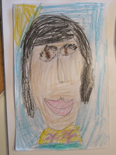 R's Portrait of herself on the back...