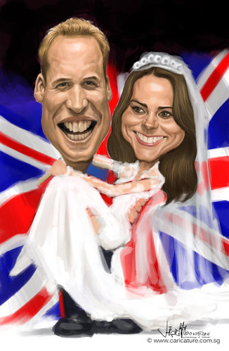 Prince William and Kate Middleton digital caricature - 6