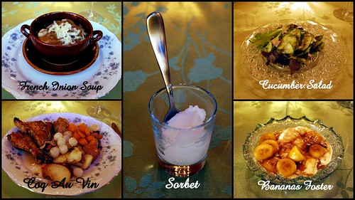 French Dinner Collage