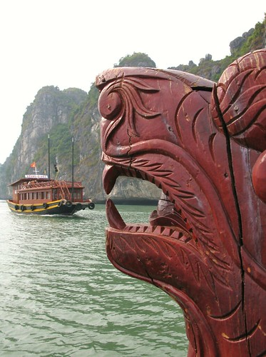 When tour boats attack, Halong Bay, Vietnam