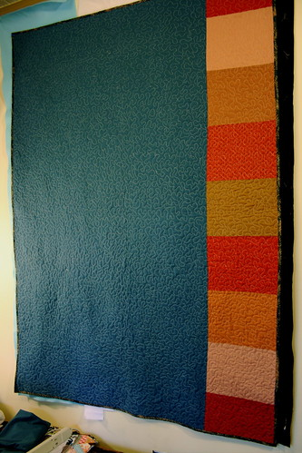 Solids & Squares Quilt - back