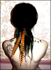 feathers & tattoos (Shapeshifter Photography) Tags: portrait selfportrait me feathers tattoos