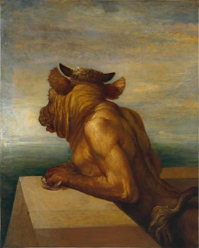 The Minotaur by  George Frederic Watts   1817-1904 by you.
