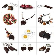 fimo2009 (weggart) Tags: jewelry polymerclay fimo minifood miniaturefood offbeatjewelry