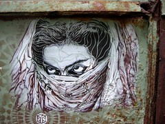 C215 - Istanbul (Taksim) (C215) Tags: streetart art ava turkey french graffiti crazy eyes stencil mother dancer christian beyoglu pochoir masacara farhang szablon stanbul c215 taksm schablon gumy piantillas nnas vel persan