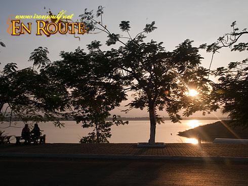 Laos Mekong Afternoon Sundown