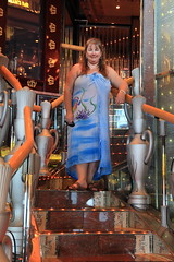 Legends Cafe Stairs IMG_0905 (SunCat) Tags: travel cruise carnival vacation woman clothing friend girlfriend all bare bbw spouse wife caribbean debbie sweetheart lover mate companion legend 2009 sarong soulmate optional pareo necessities braless clothingoptional barenecessities confidante so eoshe