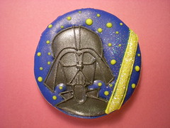 """STAR WARS"" COOKIE 3 (rosey sugar) Tags: wedding cake starwars cookie decoration royal celebration icing piping favour sugarcraft"