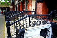 Stoops (wyojones) Tags: street newyorkcity newyork manhattan steps sidewalk np ironwork yorkville uppereastside stoops wyojones