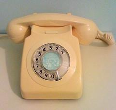 Vintage telephone! (toriejayne) Tags: house color home vintage aqua pastel telephone cream dial retro plastic 1970 rotary craftroom telfonos toriejayne