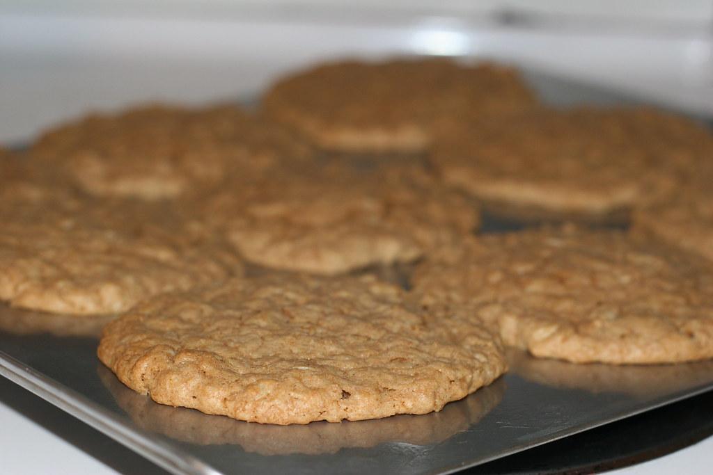 Big Gigantoid Crunchy Peanut Butter-Oatmeal Cookies! (w/recipe)