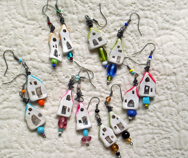 Teeny Tiny House Earrings