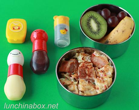Okonomiyaki bento lunch for preschooler