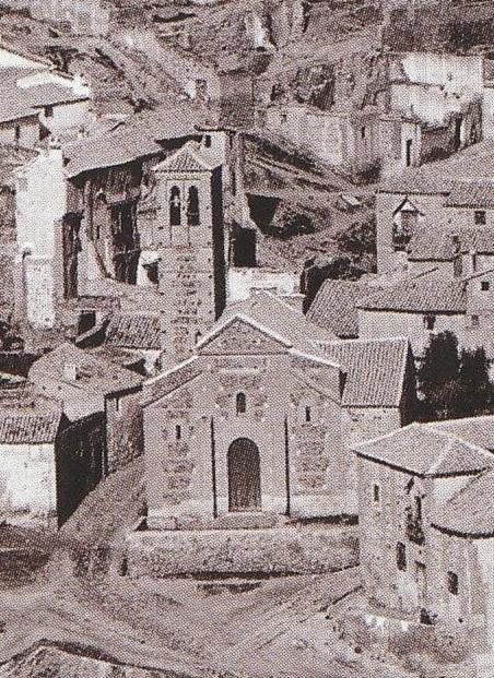 Iglesia de San Sebastián de Toledo en 1872. Fotografía de Jean Laurent (detalle). Archivo Ruiz Vernacci
