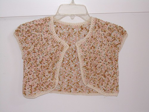 vintage shrug-bolero-shortie jacket crochet pattern / patterns