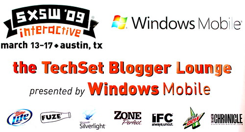 The Windows Mobile TechSet banner in the Blogger Lounge