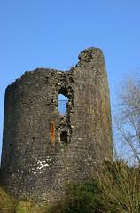 Llandovery Castle, tower. (Athena's Pix) Tags: old blue windows sky tower castle heritage history metal wales weeds rust bars carmarthenshire stonework historic welsh soe castell apertures bej llandoverycastle