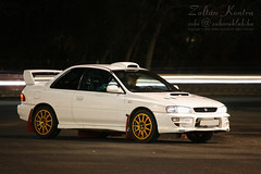 @Vision STi (Zek.) Tags: door 2 white car wheel sport night digital canon rebel gold long 2000 zoom rally wing exposition r subaru type l hood tele ra impreza wrx sti 70200 coupe ef f4 scoop vi spoiler f4l xti powerbulge canoneos400d